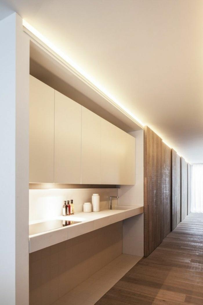 indirekte beleuchtung led moderne kücheneinrichtung