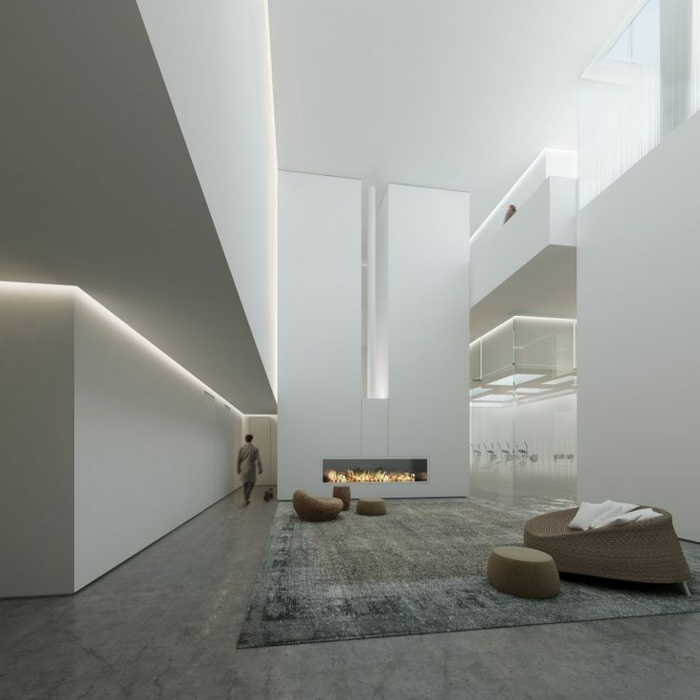 indirekte beleuchtung moderne architektur raumgestaltung ideen