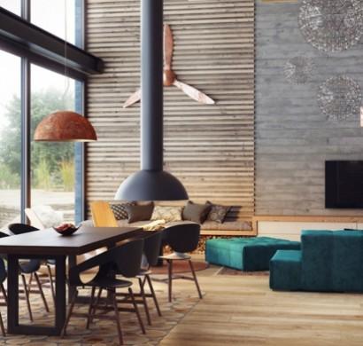31 Inneneinrichtung Ideen Loft Mbel Wohnzimmer Wassermann