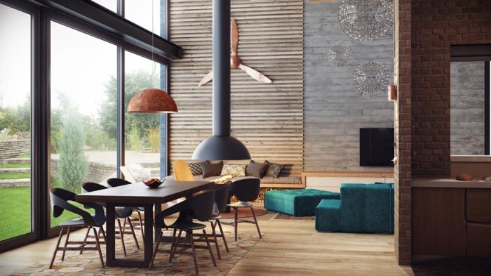 inneneinrichtung ideen loftmöbel wohnzimmer wassermann