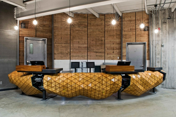 innovative materialien office einrichtung wood skin