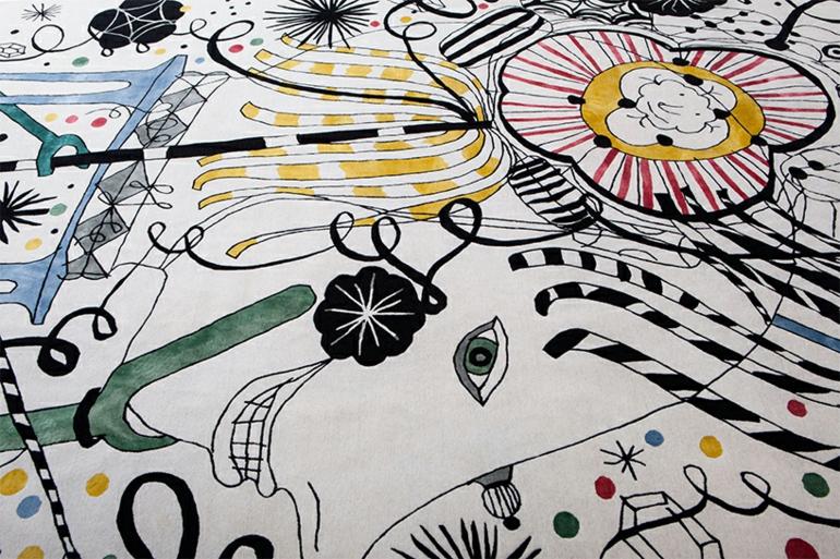 Teppich Design von Jaime Hayon mit Folklorelementen