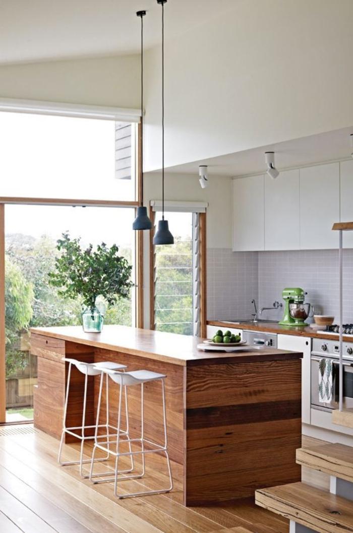 küche mit kochinsel moderne küchengestaltung holz kücheninsel