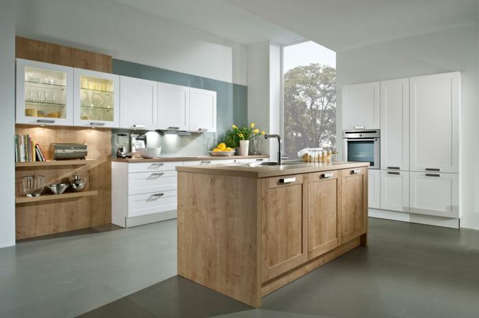 küchendesign ideen nolte küche kücheninsel offene regale