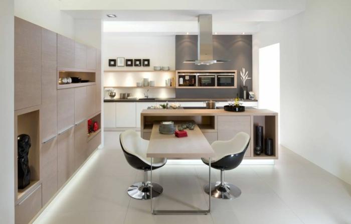 küchendesign nolte küche kücheninsel coole stühle einbauleichten