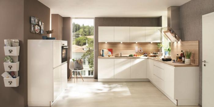 küchendesign nolte küche milde farben schöne beleuchtung geräumig