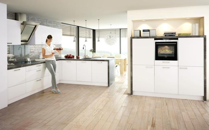 küchendesign nolte küche weiße kücheneinrichtug stilvoll