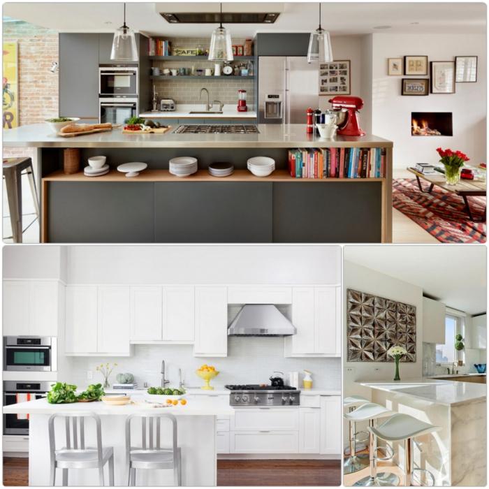 küchengestaltung ideen küche mit kochinsel beispiele
