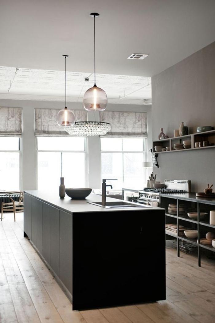 küchengestaltung ideen küche mit kochinsel kücheninsel schwarz