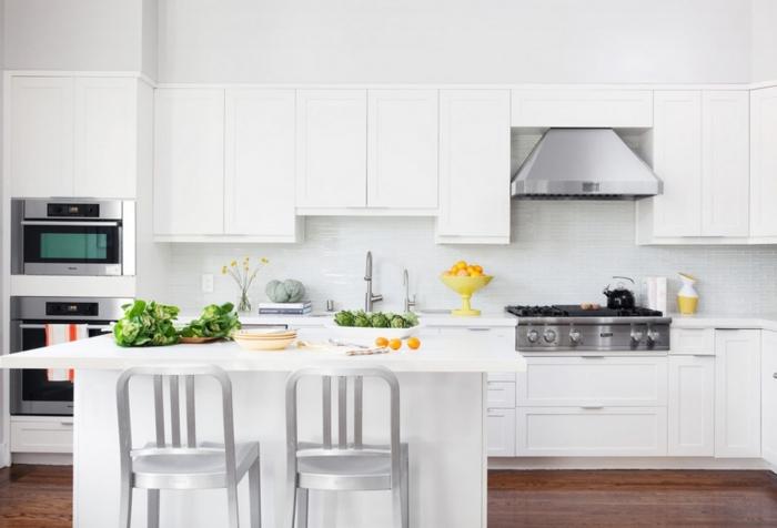 küchengestaltung ideen küche mit kochinsel komplett weiß