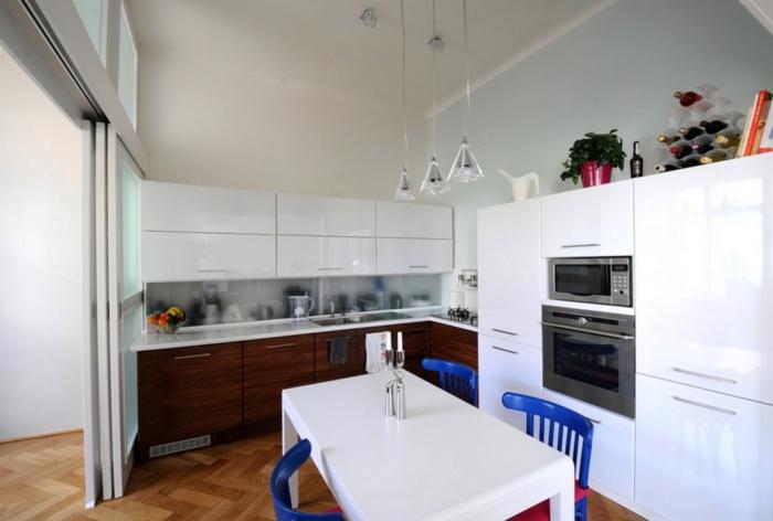 Küchengestaltung Ideen Küche Mit Kochinsel Und Esszimmertisch