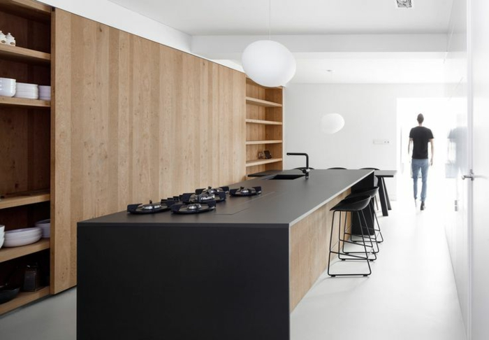 Küchengestaltung Küche Mit Kochinsel Holzküche Gestalten Küchentheke Holz