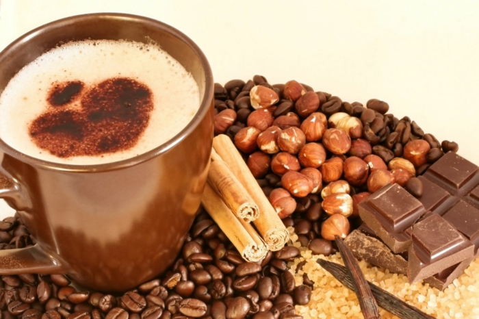 kaffee kalorien vollmilchschokolade zimt haselnüsse vanille