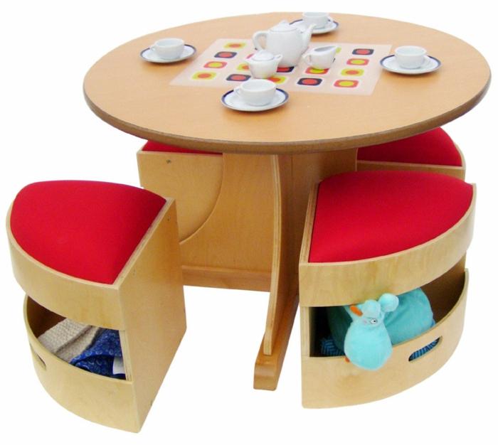 kinderhocker design aufbewahrungsraum runder tisch