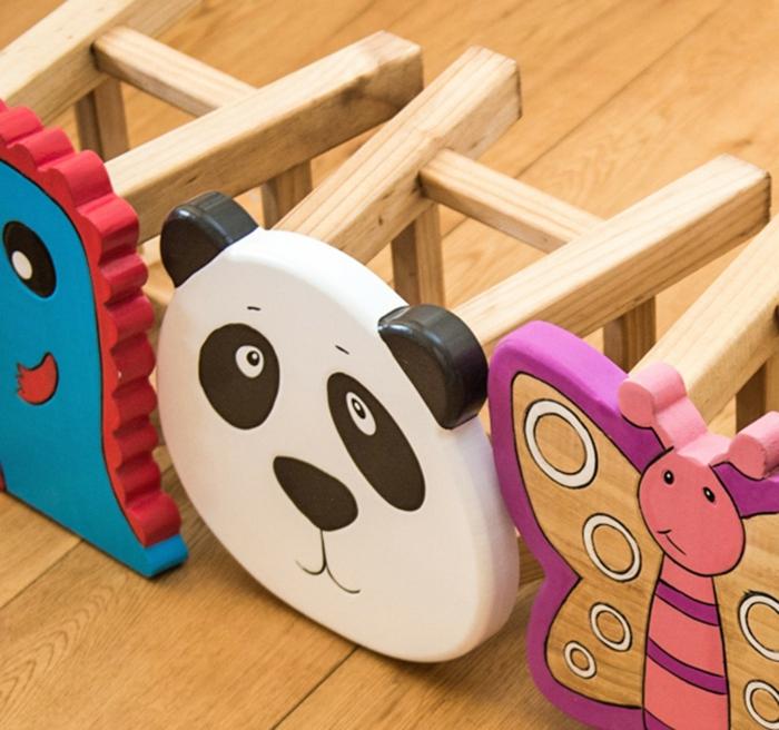 kindermöbel kinderzimmer einrichten lustige hocker tiere