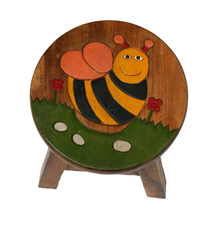 kindermöbel kinderzimmer gestalten hocker biene design