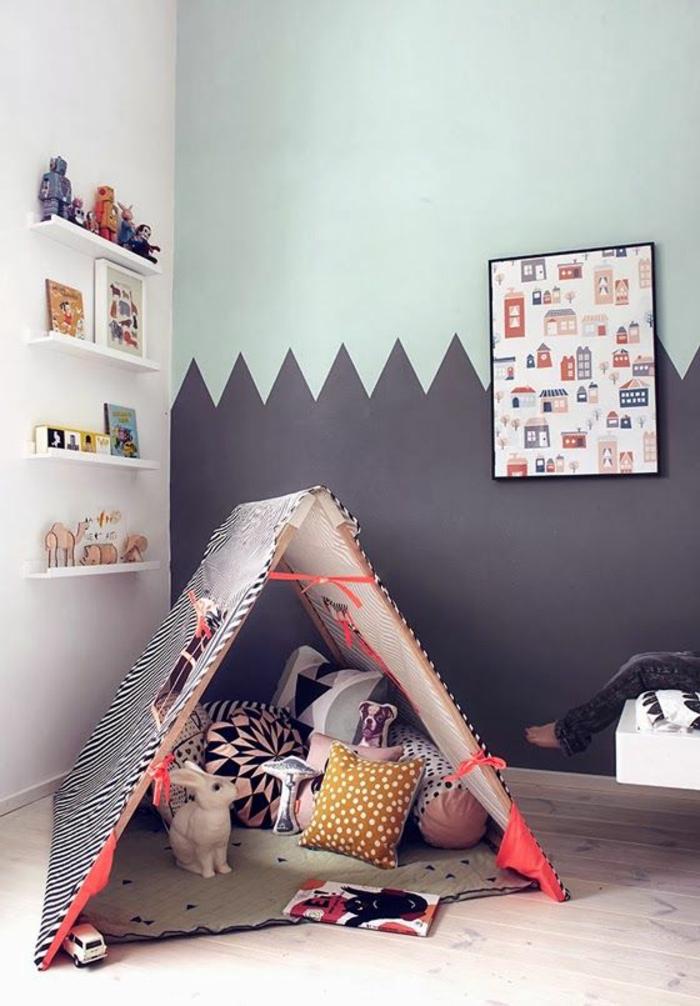 kinderzimmer wandfarbe babyzimmer gestalten kreative wandgestaltung