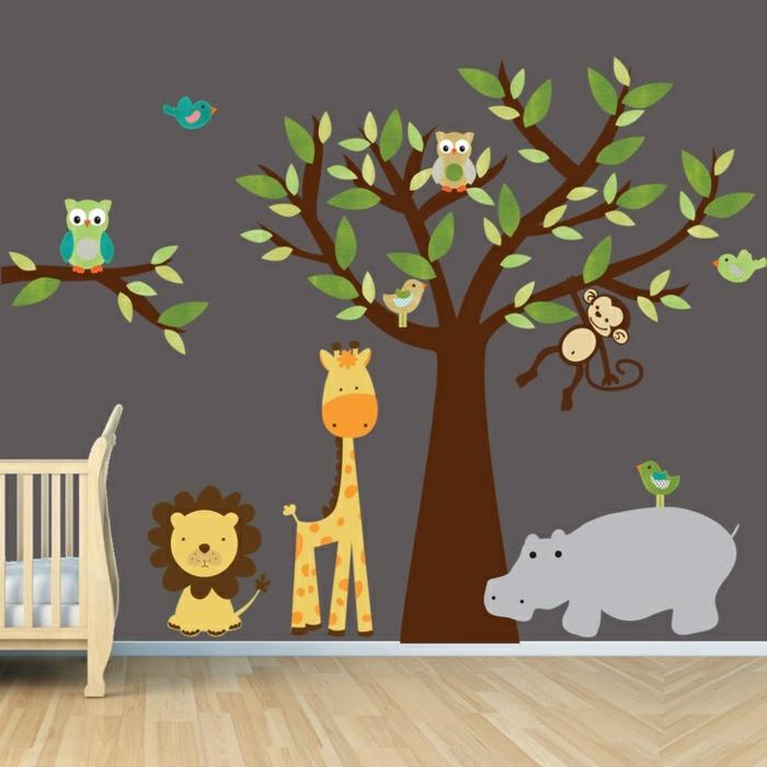 kinderzimmer wandfarbe babyzimmer mit wandtattoos