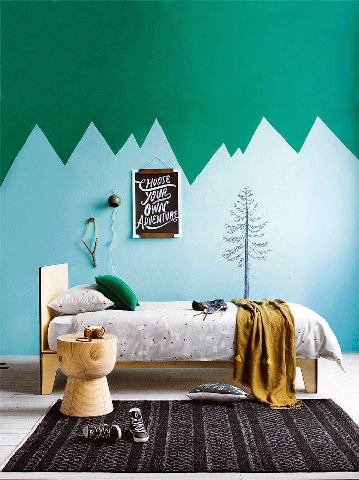 Hervorragend Kinderzimmer Wandfarbe Kinderzimmer Gestalten Wandgestaltung Grün Farben