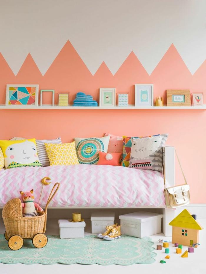 kinderzimmer wandfarbe mädchenzimmer gestalten wandgestaltung