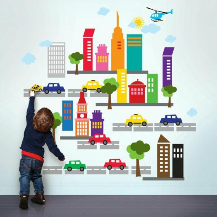kreative wandgestaltung kinderzimmer wandtattoo wandaufkleber selbstaufklebend