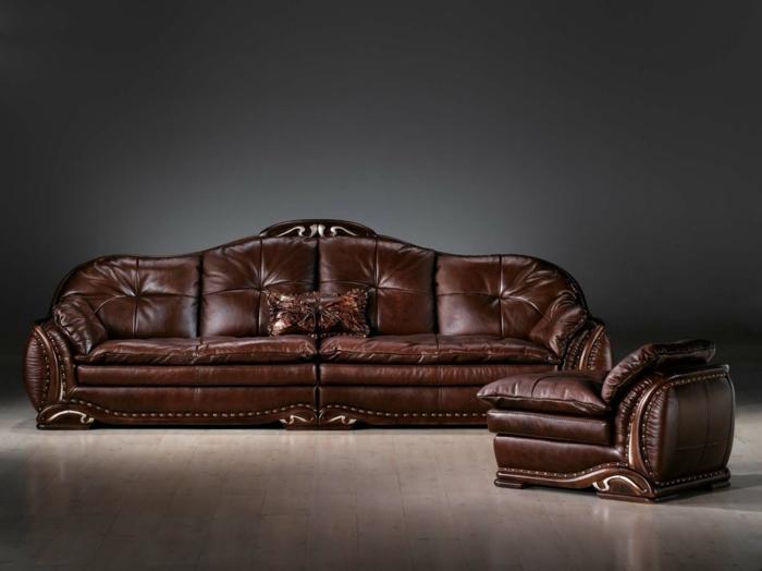 die ledercouch der unbestrittene hingucker im wohnzimmer. Black Bedroom Furniture Sets. Home Design Ideas