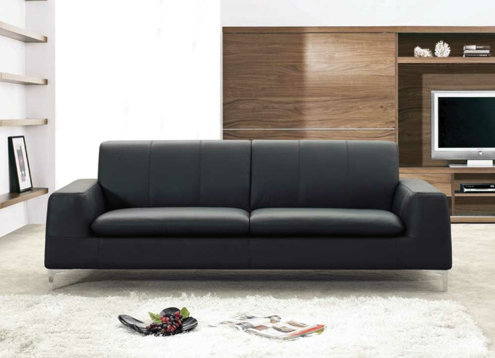 die ledercouch der unbestrittene hingucker im wohnzimmer. Black Bedroom Furniture Sets. Home Design Ideas