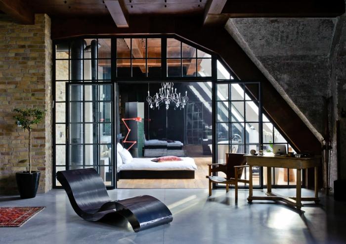 wandgestaltung loft style: betonoptik wandgestaltung foto loft ... - Loft Einrichten Beispiele