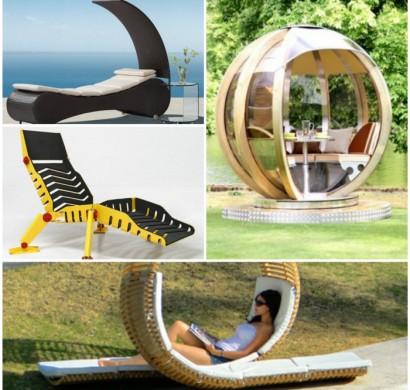 stilvoller lounge sessel aus metall begesitert mit shabby, Möbel