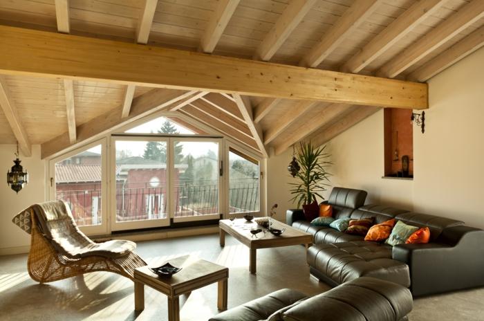 möbel loft wohnzimmer einrichten ledermöbel wohnideen