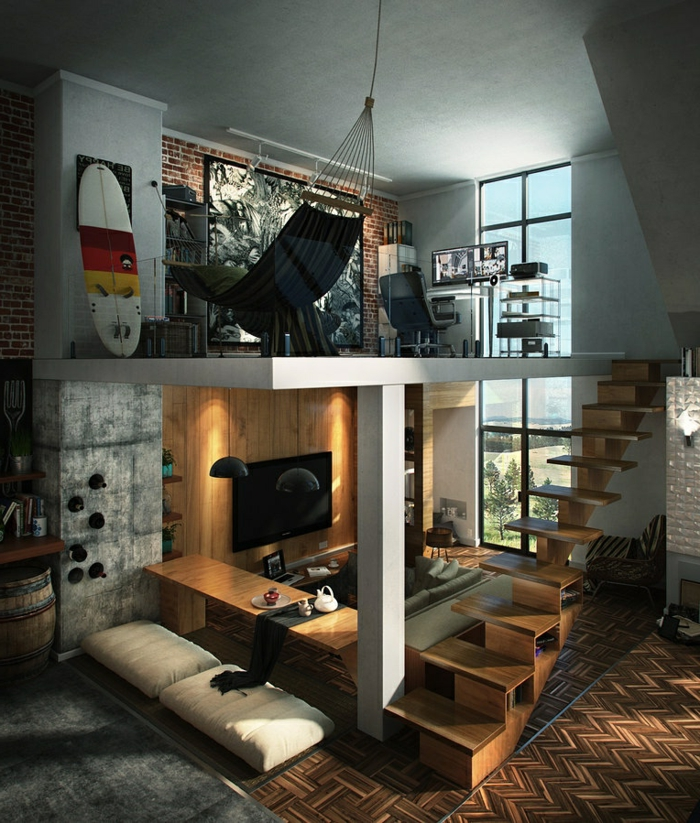 Möbel Loft Funktional Kompakt Innentrepe Akzente