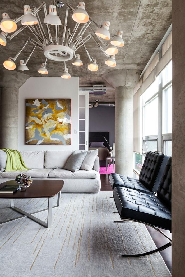möbel loft industrielle wohnzimmermöbel leuchter teppich