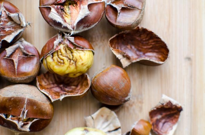 maronen rösten und schälen gesundes essen rezepte