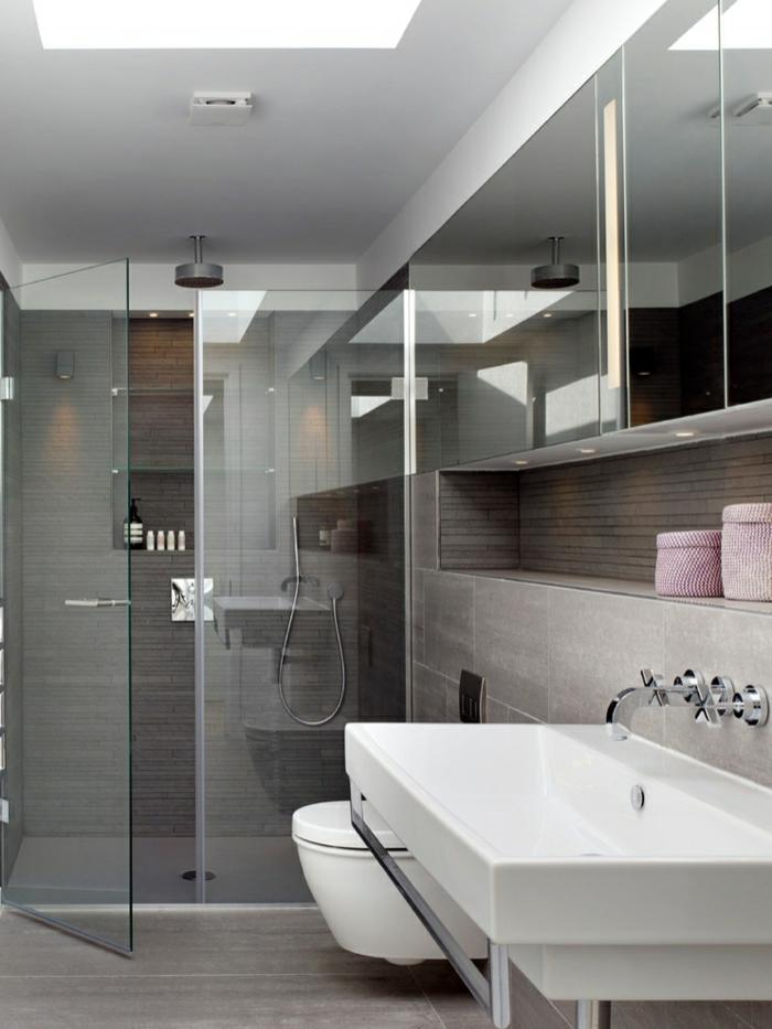 moderne inneneinrichtung badeinrichtung glas trennwand tür