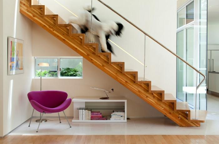 moderne inneneinrichtung glas treppengeländer