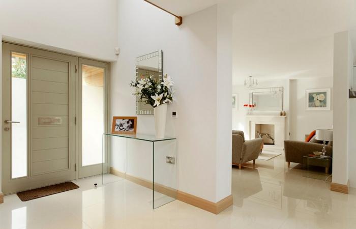 moderne inneneinrichtung minimalistische möbel glaskommode