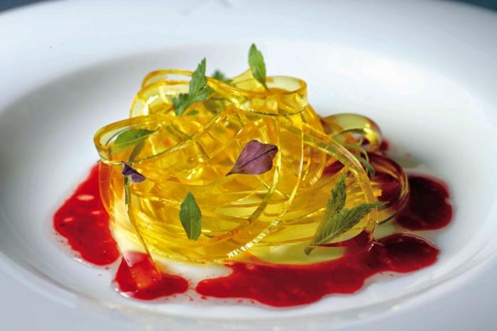 molekulare Küche rote pasta