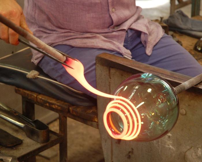 murano glas kunst vasen herstellung