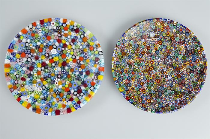 murano glas kunstvolle wandteller wanddekoration