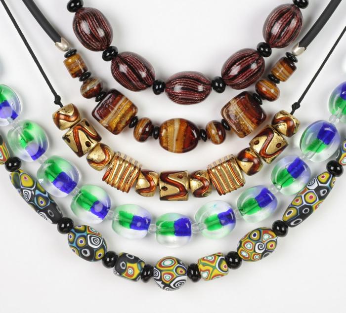 murano glas venezianische kunst halsketten schmuck