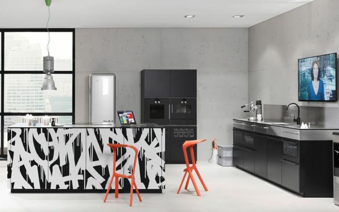 nolte küchen ausgefallene kücheninsel schwarze akzente