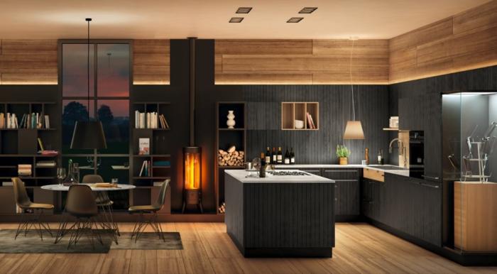 nolte küchen feuerstelle moderne küche einrichten gemütlich