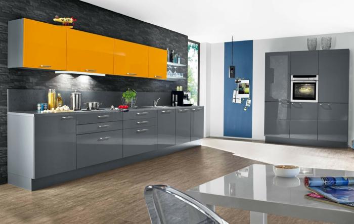 nolte küchen gelbe akzente graue küchenschränke