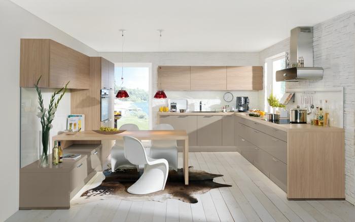nolte küchen fellteppich modernee esstisch coole weiße stühle