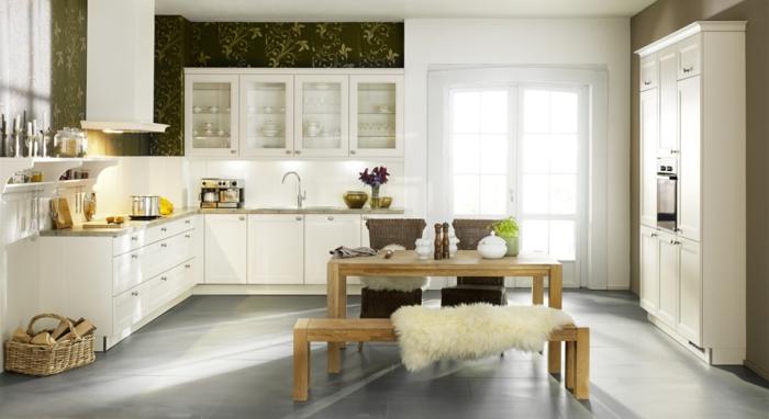 küchendesign nolte küche sitzbank weiße küchenschränke