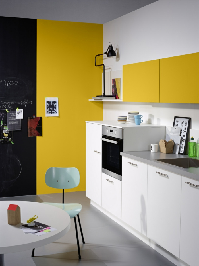 Nolte Küchen Weiße Küchenschränke Gelbe Akzente