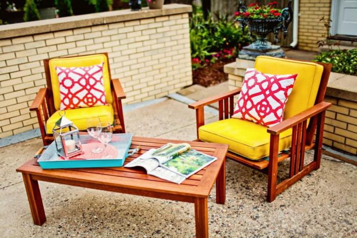 outdoor stoffe baumwolle dekokissen grelle farben