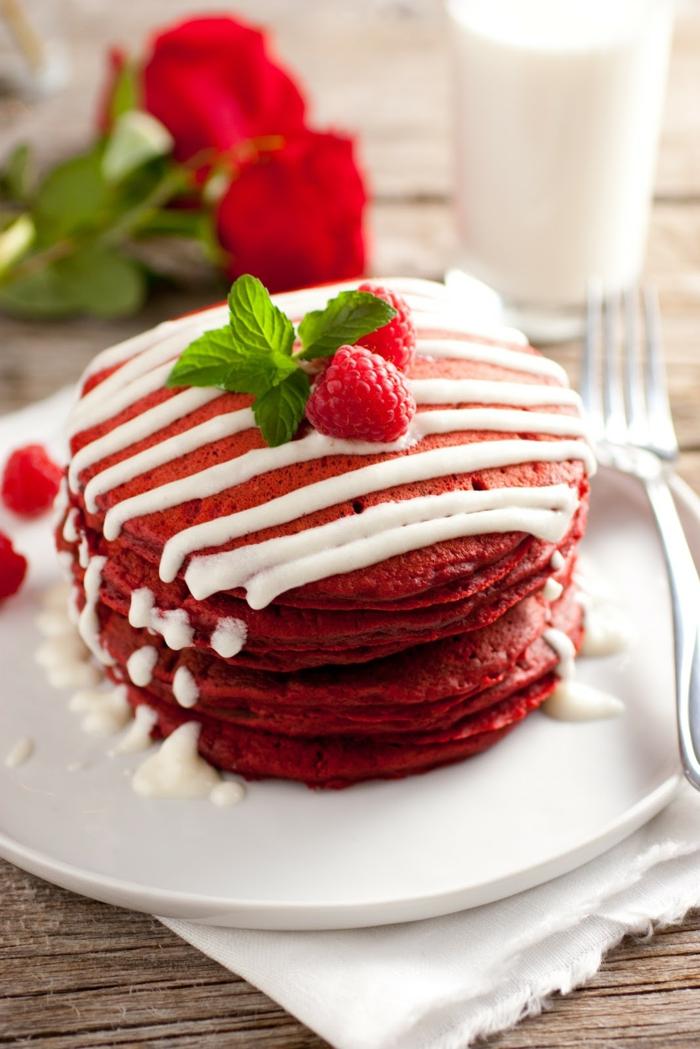 pfannkuchen rezept rot himbeeren vanille soße