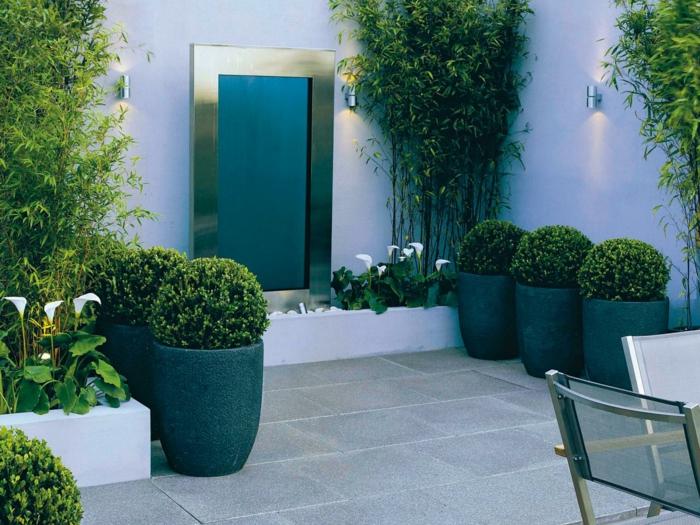 pflegeleichte gärten schöne blumentöpfe garten gestalten