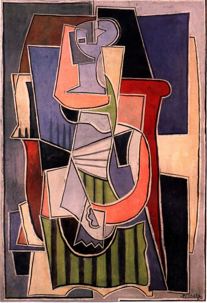 picasso cubismus merkmale Woman sitting in an armchair 1920